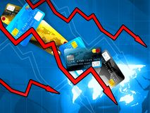 Money crisis concept. Money world crisis concept illustration Royalty Free Stock Images