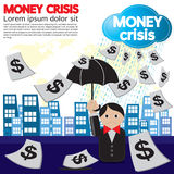 Money Crisis Conceptual. Money Crisis Conceptual Illustration Vector.EPS10 Stock Photos