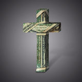 Money cross Royalty Free Stock Images