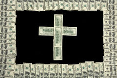 Money cross Royalty Free Stock Photography