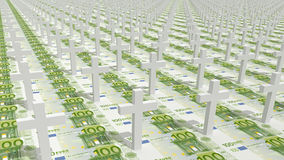 Money and crosses Royalty Free Stock Image