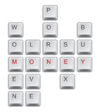 Money crossword. Made from computer keys Stock Images