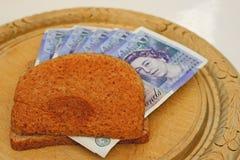 Money crust sandwich Stock Photography