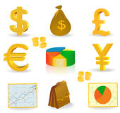 Money and currency. Web  icon  - vector illustration Royalty Free Stock Photography