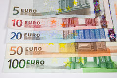 Money in Currency Euro Royalty Free Stock Photos