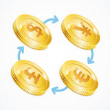Money Currency Exchange Concept. Vector Royalty Free Stock Photography