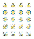 Money & Currency icon, Monochrome color - Vector Illustration Royalty Free Stock Photo