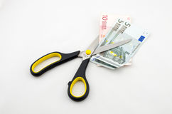 Money cut Royalty Free Stock Photo