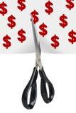 Money cut Royalty Free Stock Photos