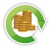 Money cycle illustration design Stock Photography