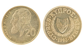Money of Cyprus - 20 cents Stock Photo