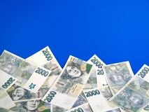 Money - Czech crowns notes Stock Images