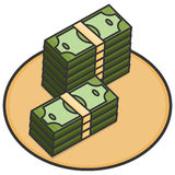 Money 3d, Line Royalty Free Stock Images