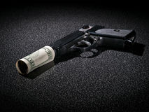 Money is dangerous Stock Photography