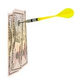 Money and darts Royalty Free Stock Photos