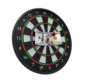 Money and Darts Stock Photography