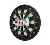 Money and Darts Stock Image