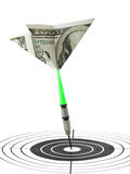 Money darts and target Royalty Free Stock Photography