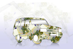 Money debt. The danger of being indebted in the present time Royalty Free Stock Images