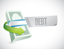 Money and debt message illustration design Royalty Free Stock Photo
