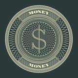 Money Decorative Circle Sign Symbol Vector Illustration Royalty Free Stock Photos