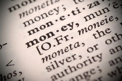 Money Definition Stock Images