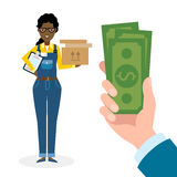 Money for delivery. Stock Images