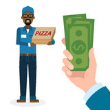Money for delivery. Stock Photography