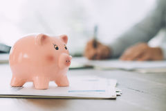 Money deposit, loans and funds concept Royalty Free Stock Photography