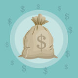 Money design. financial item. Flat illustration, editable vector Royalty Free Stock Photos