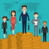 Money design. financial item. Flat illustration, editable vector Royalty Free Stock Image