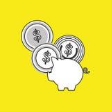 Money design. Financial item icon. White background, isolated illustartion. Money concept with icon design,  illustration 10 eps graphic Royalty Free Stock Image