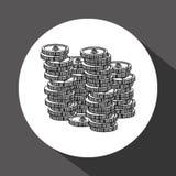 Money design. Financial item icon. White background, isolated illustartion. Money concept with icon design,  illustration 10 eps graphic Royalty Free Stock Photography