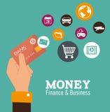 Money design, vector illustration. Stock Image