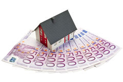 Money for a detached house Stock Photo