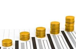 Money and diagram Royalty Free Stock Photos