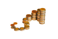 Money. Diagram with view of money grow Stock Photos