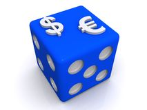 Money dice Royalty Free Stock Image