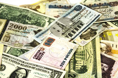 Money of different countries. Stock Photography