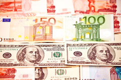 Money of different countries Royalty Free Stock Images