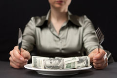 Money for dinner Stock Photos