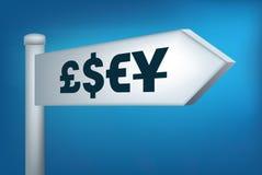 Money direction sign Stock Photo