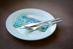 Money on a dish Stock Image