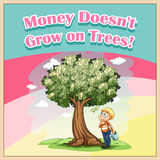 Money doesn't grow on trees Royalty Free Stock Photography