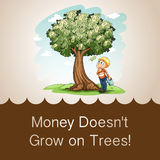 Money doesn't grow on trees Stock Photography
