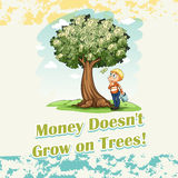 Money doesn't grow on trees Stock Photos