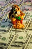 Money dogging faithful alert dog, oldest pet. The dog represents such good qualities as loyalty, alertness, affection, sincerity stock photos