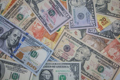 Money - Dolar and Real Royalty Free Stock Photography