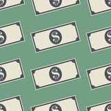 Money Dollar Banknotes Background. Cash Seamless Pattern Royalty Free Stock Photography