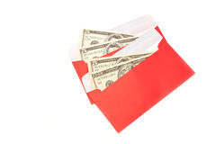 Money Dollar Cash Banknote in Red Envelope Royalty Free Stock Image